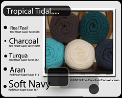 Tropical-Tidal (The Crochet Crowd) Tags: color mikey yarn collections redheart colorwheel combo divadan colorcolor supersaver combitions crochetcrowd vision:text=0697 vision:outdoor=096