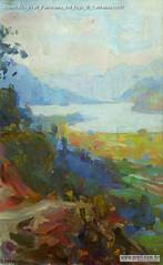 Romualdo Prati Panorama del lago di Caldonazzo040