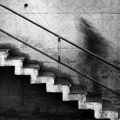 (Victoria Yarlikova) Tags: longexposure bw abstract monochrome stairs dark square movement moody ghost surreal atmosphere
