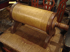 "VICTORIAN OAK AND LEATHER FOOTSTOOL. • <a style=""font-size:0.8em;"" href=""http://www.flickr.com/photos/51721355@N02/11876394615/"" target=""_blank"">View on Flickr</a>"
