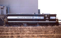 RAIL-TO-WATER TRANSFER (rrradioman) Tags: illinois may il 1977 baldwin 363 southchicago railtowatertransfer