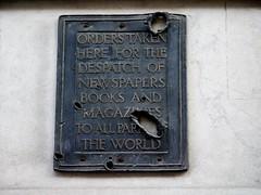 (perpetually dishevelled) Tags: england london sign wwii german damage bomb blitz whsmith worldwartwo shrapnel airraid 10october1940