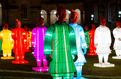 Lanterns of the Terracotta Warriors (Five Second Rule) Tags: light sculpture colour art night edinburgh artist bright chinese courtyard chinesenewyear exhibition illuminated terracottawarriors lanterns edinburghuniversity spectacle beijingolympics yearofthehorse xianan