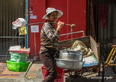street trader Phnom Penh (alison ryde - back in town for now) Tags: life voyage travel holiday asia cambodia southeastasia streettrader phnompenh dailylife seller hawker 2014 mobileseller