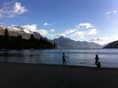 Martial arts (Mashthetics) Tags: newzealand people beach bay queenstown kiwi aotearoa lakewakatipu