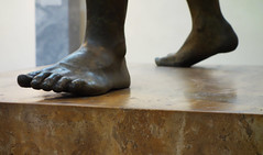 Artemision Zeus or Poseidon (detail of feet), c. 460 B.C.E.