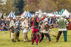 [2014-04-19@15.16.47a] (Untempered Photography) Tags: history costume fight helmet battle medieval weapon sword knight combat armour reenactment skirmish combatant chainmail spear canonef50mmf14 perioddress polearm platearmour gambeson poleweapon mailarmour untemperedeye canoneos5dmkiii untemperedeyephotography glastonburymedievalfayre2014