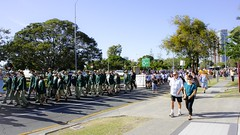 ANZAC Day 2014 / Southport / Gold Coast / Australia (haphopper) Tags: sky people building tree kids children march student australia parade line qld queensland southport anzac goldcoast 2014 ool