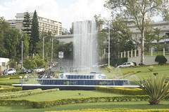 Central fountain in Kigali
