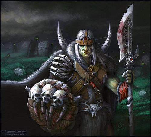 Варвар в костяных доспехах. | The barbarian in the armory of bones