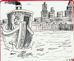 boat (Stevios) Tags: comic tugboat penandink