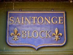 (Will S.) Tags: ontario canada sign hastings fleurdelis fleurdelys mypics oldbuilding saintonge fleursdelis stonge saintongeblock