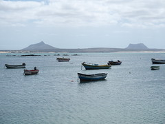 The harbour at Sal Rei, Boa Vista!