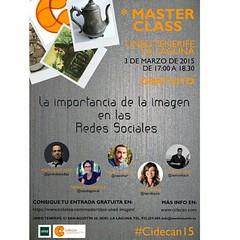 El próximo día 3 de marzo a las 17:00h en la UNED de la #LaLaguna estaremos el equipo de Cidecan dando una #MasterClass tratando el tema de la importancia de la imagen en las #redessociales, cómo sacarle provecho, como impactar a nuestra audiencia, etc. ¿