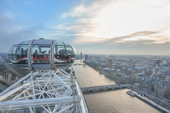 View from the London Eye (Monkey.d.tony) Tags: uk travel blue sunset england cloud london dawn nikon europe housesofparliament londoneye bigben tokina british thamesriver westminister westminsterpalace  d7200 thecocacolalondoneye