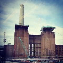 111/366 - Renovation (Spannarama) Tags: uk chimney london window reflections square crane april powerstation batterseapowerstation 366
