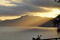 silhouettes from heaven (friedrichfrank1966) Tags: italien light mountains monochrome clouds coast licht heaven sonnenuntergang outdoor silhouettes himmel wolken kste gebirge