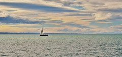 (B.R.Hintz Photography) Tags: ocean sea newzealand clouds boat sail napier brhintzphotography canonsx50hs