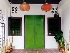 the hipster (grassybrownie) Tags: door old trip travel blue houses house color window colors architecture vintage asian design singapore colorful asia exterior designer interior chinese decoration style retro wanderlust architect malaysia lantern penang decor nofilter
