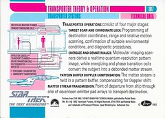 Star Trek The Next Generation 1992 series Trading Card 107 Back (zigwaffle) Tags: startrek card trading sciencefiction 1992 startrekthenextgeneration paramount transporters impel