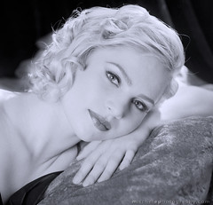 Homage to George  Hurrell (mimeman) Tags: portrait bw woman monochrome beauty star headshot nostalgia blonde 40s hurrell eoshe