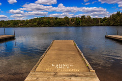 Launch Only (david_sharo) Tags: trees lake water clouds landscape scenic moraine davidsharo