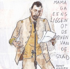 # 144 (23-05-2016) (h e r m a n) Tags: stone illustration rotterdam poetry poem drawing zwembad mama cardboard podium herman poet carton worm gedicht stad illustratie bock karton dichter oosterhout tekening stenen poezie frontaal 10x10cm stadsdichter tegeltje editie9 joostoomen 3651tekenevent