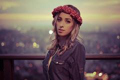 Pamela Braale (Philipeofficial) Tags: flowers green girl gold dress natural filter blond preset