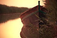 Boat (Fanita Rares Gabriel) Tags: sunset summer lake reflection green water beauty sunrise river golden boat expression hour
