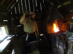 Blacksmithing at  The Homeplace (LandBetweenTheLakesKYTN) Tags: heritage forest tn tools service 1850s bellows publiclands dover oldtime homeplace blacksmithing landbetweenthelakes lbl