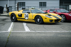 Ford GT40 - Spa Euro Race (Freddy Pacques) Tags: world ford beautiful yellow race jaune canon focus track belgium euro f14 85mm du 5d plus 40 manual gt monde circuit spa beau gt40 francorchamps samyang