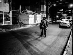 The dark knight (gilkorin) Tags: street blackandwhite contrast israel telaviv streetphotography panasonic20mmf17 panasonicgx8