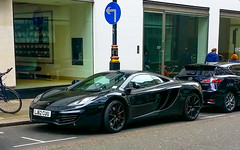 McLaren MP12-4C (Alex Steriu) Tags: street city black london cars rally wheels fast mclaren modified regent spotting supercars gumball3000 hypercars