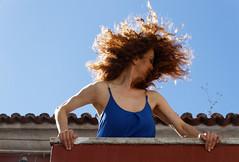 The beauty Of Dina (miza monteiro) Tags: portrait pessoa retrato ruiva vento