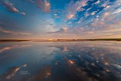 Cape Cod Reflections (Dapixara) Tags: cod cape cloudreflections boatmeadow capecod easthammassachusetts clouds boats bluesky bigclouds shiny light