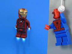 Hi Mr. Stark (MrKjito) Tags: new york man tower comics spider iron lego spiderman tony peter minifig stark parker webs avengers marverl