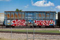 (o texano) Tags: bench graffiti texas fb houston trains freights benching tawl