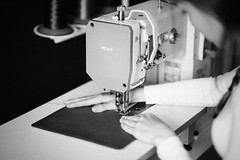Creating (band&roll) Tags: bandandroll bandroll craft handmade craftmanship sewing black white how its made idea people work