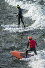 River Surfing (Frank O Cone) Tags: cold river wave surfing