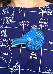 Nautilus Brooch (hine) Tags: art toy handmade brooch craft felt etsy knitted nautilus hine hinemizushima