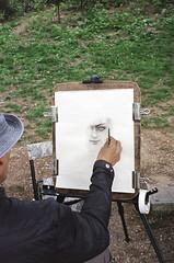 (Levi Mandel (@levimandel)) Tags: 35mm film scan centralpark nyc newyork drawing eye charcoal magic summer light gothamist