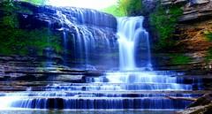Cummins Falls (John Prabhu 7) Tags: blue sky usa green nature colors beauty memphis adventure waterfalls picoftheday