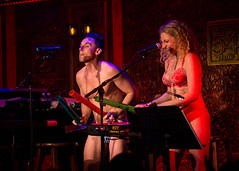 IMG_2484 (Cherie B. Tay) Tags: nyc concert ukulele 54below theskivvies