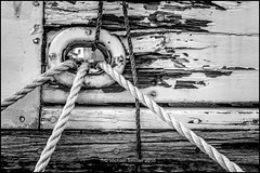 Hawsers (mikesa10) Tags: britishcolumbia ropes steveston eveninglight eveningtime richmondbc hawsers canon6d deteriated