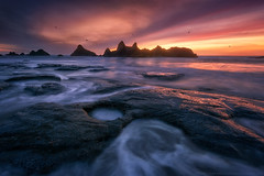 Seal Rock (Ryan_Buchanan) Tags: ocean sunset seascape birds rock oregon coast nikon buchanan seal d800e exposurescape