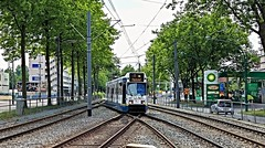 Toekomstig Voormalige splitsing (Peter ( phonepics only) Eijkman) Tags: city holland netherlands amsterdam transport nederland tram rail bn rails trams strassenbahn noordholland gvb tramtracks streetcars nederlandse trapkar