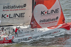 NY-VENDEE (Les Sables) | Start | Initiatives-Coeurs (imocaoceanmasters) Tags: 052016 day inside newyorkcity usa jour newyork singlehanded imoca monohull oceanmaster manhattan newyorkvendee start heli