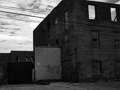 Rockwell-044414 (RickG1) Tags: chicago river blackwhite industrial belmont rockwell elston