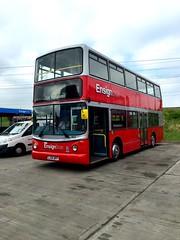 LJ54BFF Ensignbus Ex Arriva Volvo B7TL (kizmanbusesco) Tags: red london volvo dda 2016 railbus alx400 speciallivery b7tl ensignbus servicebus dualdoor volvoengine exarriva zfbox