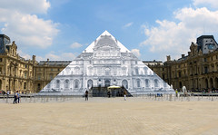 JR au Louvre (Raymonde Contensous) Tags: paris art pyramidedulouvre expositions installationsartistiques jraulouvre